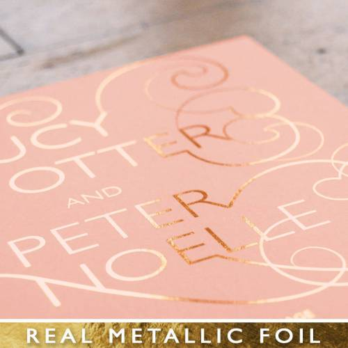 Medium Of Rose Gold Foil