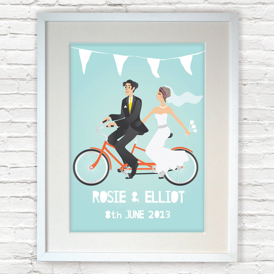 personalised wedding gifts for bride and groom wedding gift for groom Personalised Wedding Gift Bride And Groom Print
