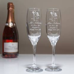 Small Of Personalized Champagne Flutes