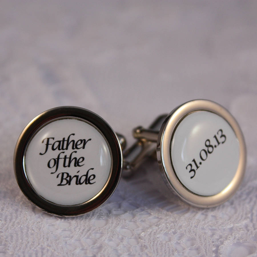 Peachy Bride Personalised Cufflinks Far Groom Present Ideas Far Groom Gifts Golf Bride Personalised Cufflinks By Lost Wonderland Far Far nice food Father Of The Groom Gifts