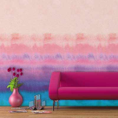 rainbow watercolour self adhesive wallpaper by oakdene designs | notonthehighstreet.com