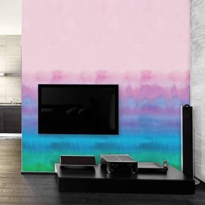 rainbow watercolour self adhesive wallpaper by oakdene designs | notonthehighstreet.com
