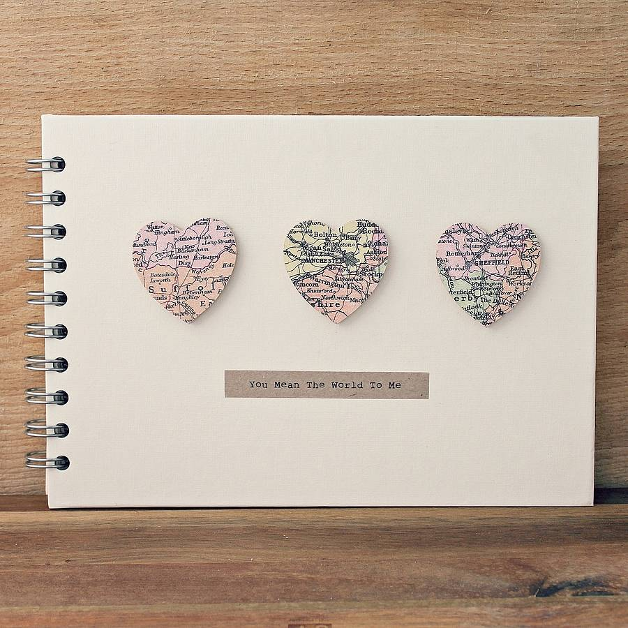 small hearts personalised guest book wedding books Personalised Small Hearts Wedding Album