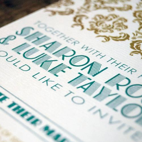 art deco gatsby wedding invitation gatsby wedding invitations Art Deco Gatsby Wedding Invitation
