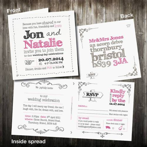 Cushty Personalised Sketch Wedding Invitation Rsvp Personalised Sketch Wedding Invitation Rsvp By Violet Pickles Rsvp Wedding Cards How To Fill Out Rsvp Wedding Cards Template