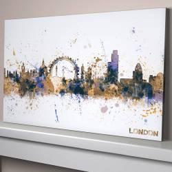 Supple G Blue Large Canvas London City Skyline Cityscape By Artpause Large Canvas Art Ideas Large Canvas Art Nz