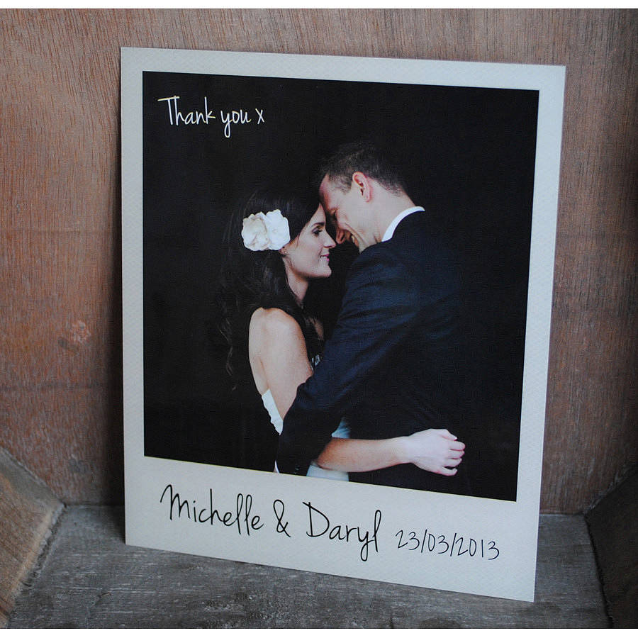 personalised polaroid wedding thank you cards thank you cards wedding polaroid wedding thank you cards