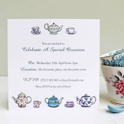 Distinctive Personalised Tea Party Invitations Personalised Tea Party Invitations By Martha Brook Tea Party Invitations Free Download Tea Party Invitations Ideas
