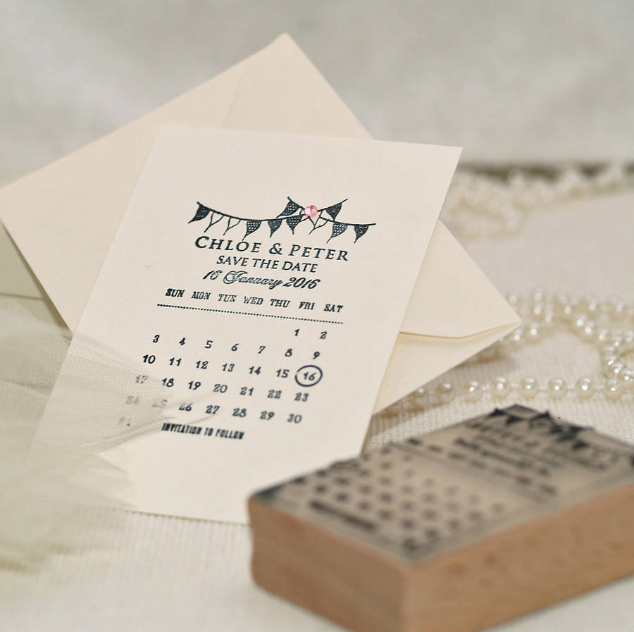 Particular Calendar Bunting Save Date Stamp Calendar Bunting Save Date Stamp By Rubber Stamps Diy Save Date Templates Free Diy Save Dates Invitations inspiration Diy Save The Dates