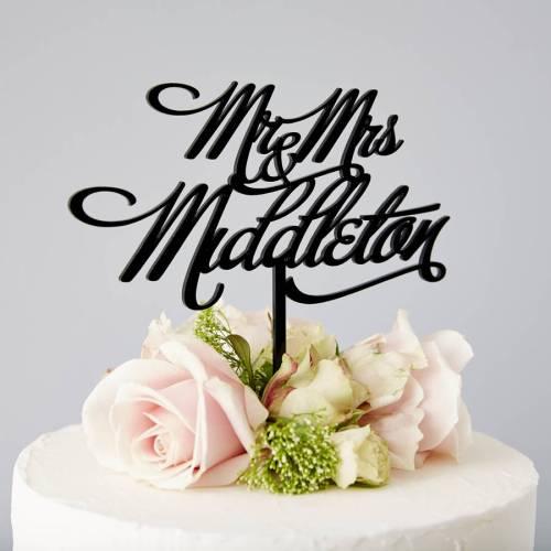 wedding cake topper images wedding cake topper Personalised Mr And Mrs Elegant Wedding Cake Topper