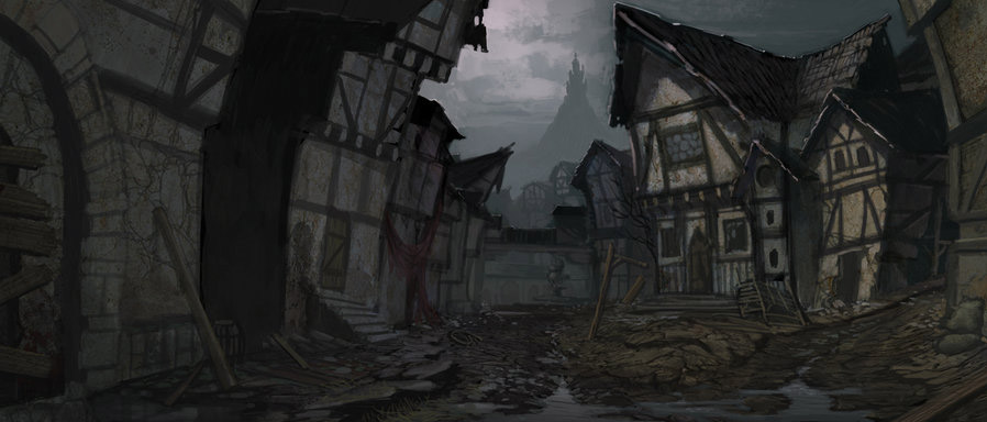 Gloomy port of Gisar