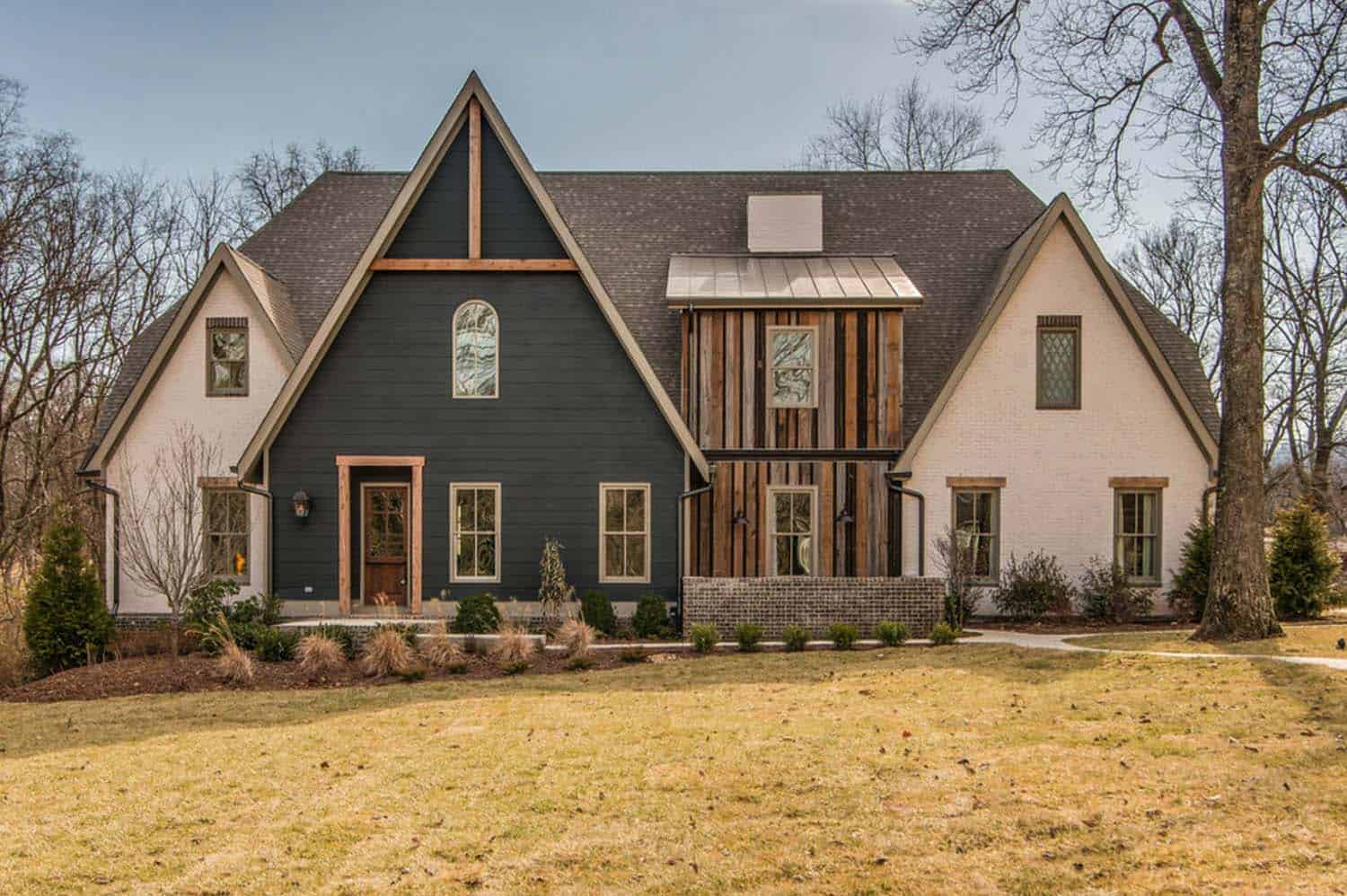 Beauteous Transitional Style Kindesign Tudor Style Inspired Dwelling Reclaimed Barn Wood Nashville Pottery Barn Inspired Homes Barn Inspired Houses home decor Barn Inspired Homes
