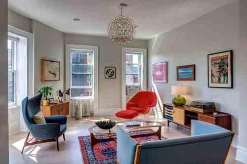 Medium Of Mid Century Living Room