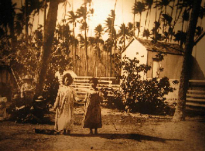 15) This photograph depicts two Hawaiian children doing the hula in 1890.