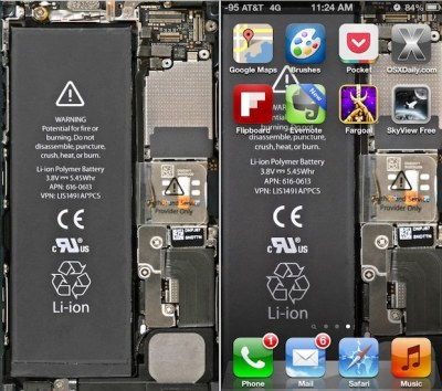 Transparent iPhone 5 Wallpaper Gives You X-Ray Vision to See Internals