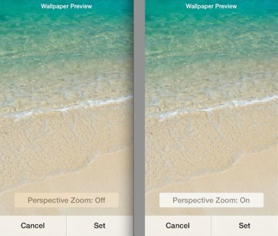 Adjust Moving Wallpapers in iOS 7.1 with Perspective Zoom