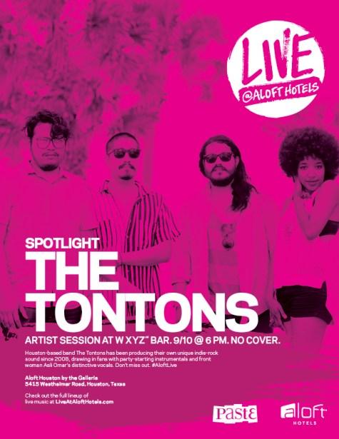 The Tontons, live at Aloft Hotel, 9.10.13