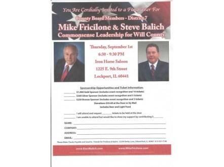 Balich &Fricilone  Will County Board District 7
