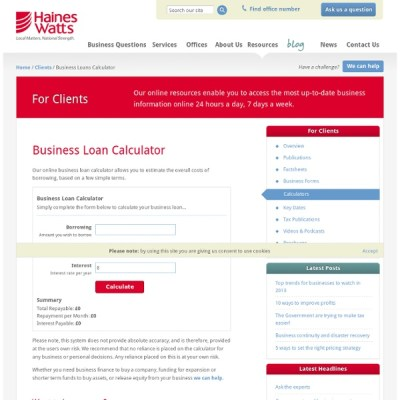 Business Loans Calculator | Pearltrees