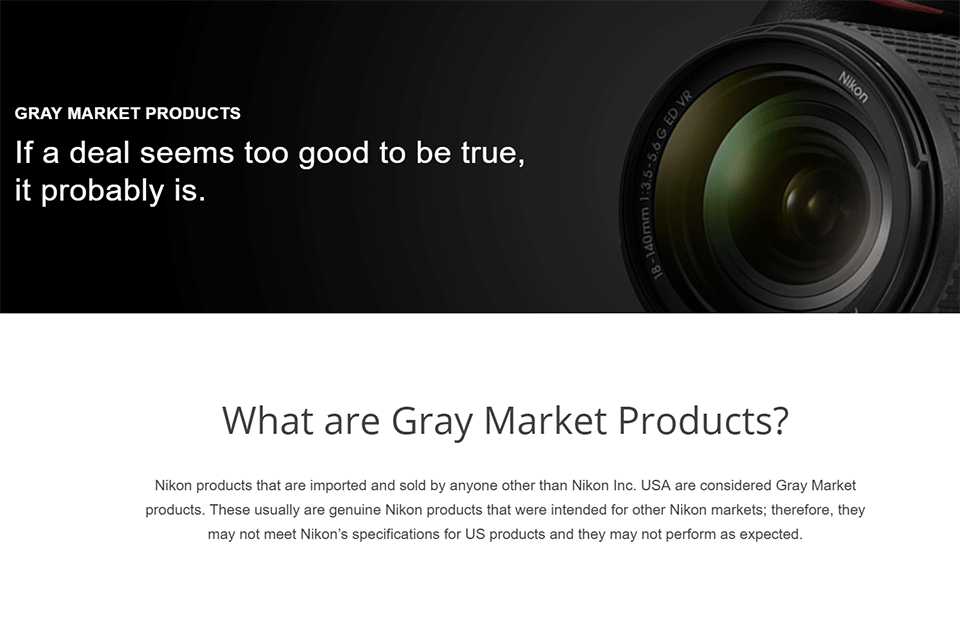 What is Gray Market Camera Gear    Photography Life Nikon Gray Market Product