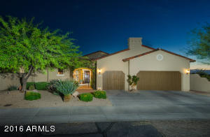 Grayhawk home backs to the golf course