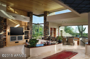 Living Room and Bar overlooking Views