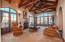 Living Room with wood beamed ceilings