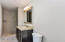 Ensuite bathroom for 3rd bedroom is large enough for adding a linen closet or more wardrobe space.