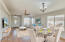 Formal living room/dining room virtually staged