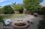 back yard/fireplace