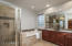 Beautifully upgraded master bathroom.