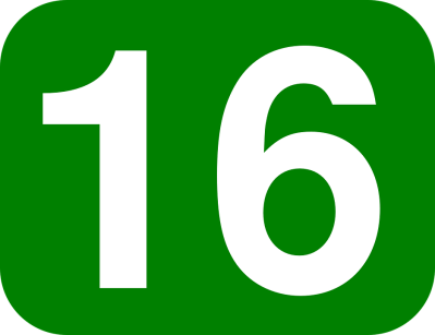 Free vector graphic: Number, 16, Rounded, Rectangle - Free Image on Pixabay - 38471