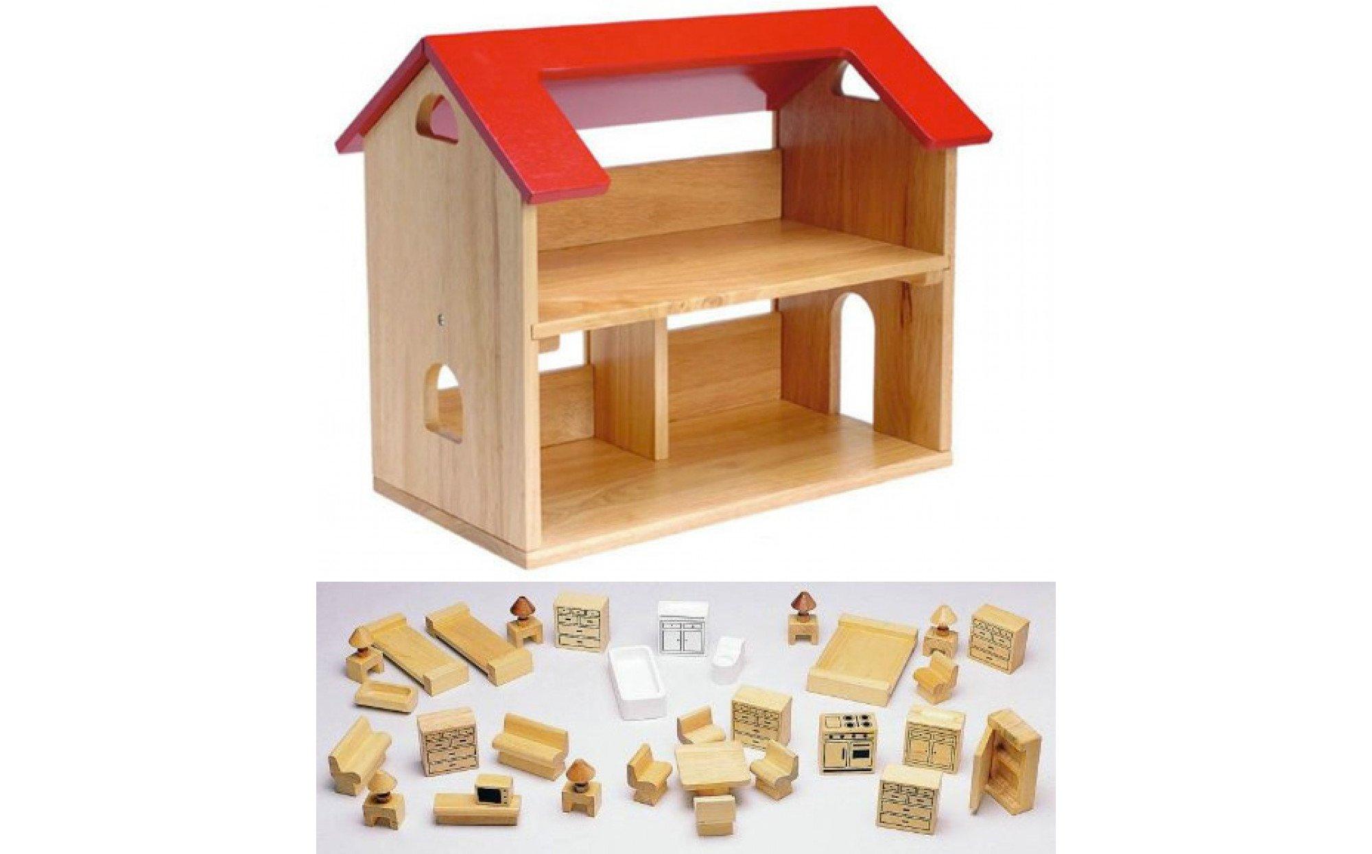 Fullsize Of Wooden Doll House