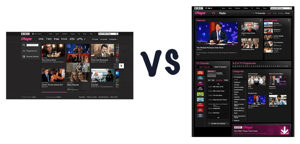 New BBC iPlayer vs old BBC iPlayer  What s the difference    Pocket lint new bbc iplayer vs old bbc iplayer what s the difference image 1