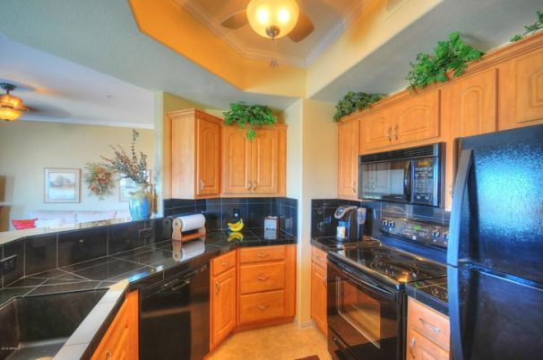 Granite counter top, upgraded cabinets, appliances and HUGE farmer sink