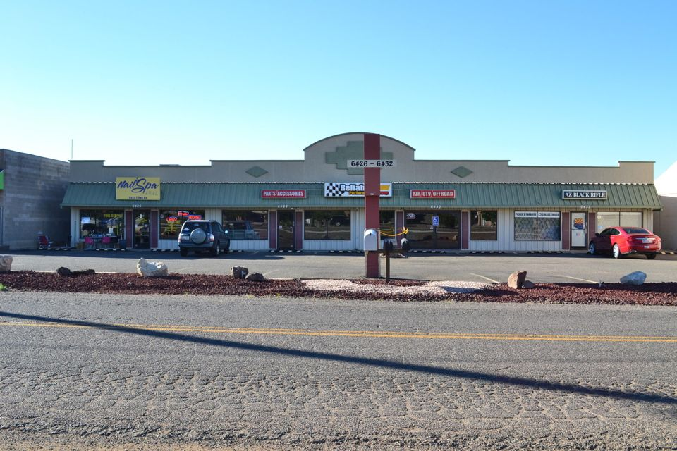 The CharDon Professional Plaza is a single level, Medical, Office or Retail building located on a very high traffic road facing Hwy 69. This property is just outside the Prescott Valley town limits - so the PV 2% sales tax does not apply. This property is being offered For Sale at $510,390. Suite A and C approx 1,187 sq ft are rented and the centered 2400 sq ft unit is recently vacant. All three Suites can be combined to total 4,770 sf. Excellent opportunity for an Owner Tenant desiring to be in a prime location, benefiting from high traffic with a saving of 2% sale taxes.
