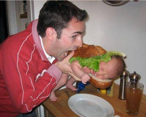 bad parenting baby hamburger The Worlds Worst Parents