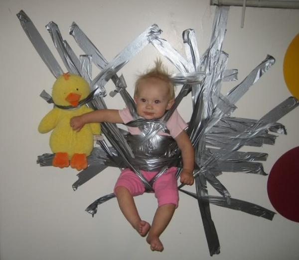 bad parenting baby taped wall The Worlds Worst Parents