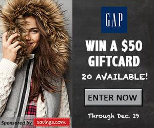 $50 GAP Gift Card Giveaway, 50% off Deal & More!