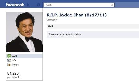 Jackie Chan death hoax
