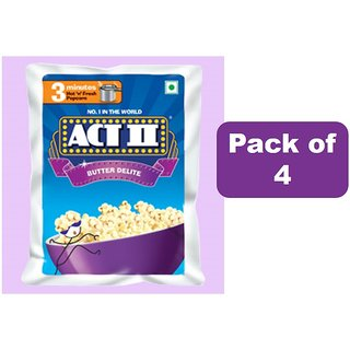 Act II Popcorn Butter Delite ,Pack of 4 (70 gms each)