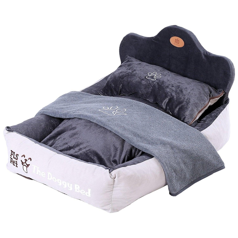 Gray Bolster Dog Completely Washable Washable Dog Beds Uk Washable Dog Bed Doggy Bed Bolster Dog Completely Washable Doggy Bed Crate bark post Washable Dog Bed
