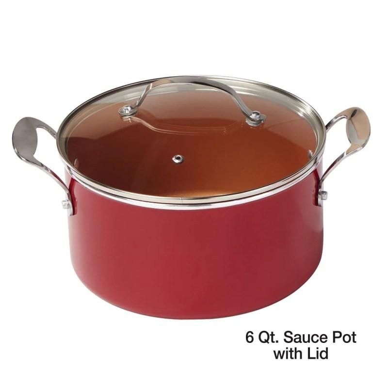 Large Of Copper Pot Set