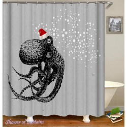 Small Crop Of Octopus Shower Curtain
