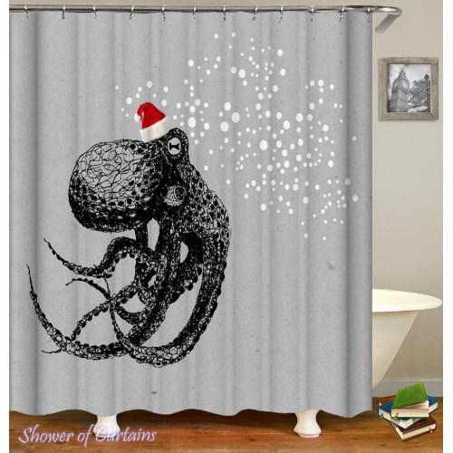 Medium Crop Of Octopus Shower Curtain