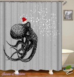 Small Of Octopus Shower Curtain