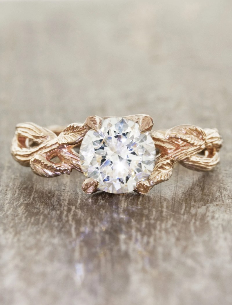 Large Of Nature Inspired Engagement Rings