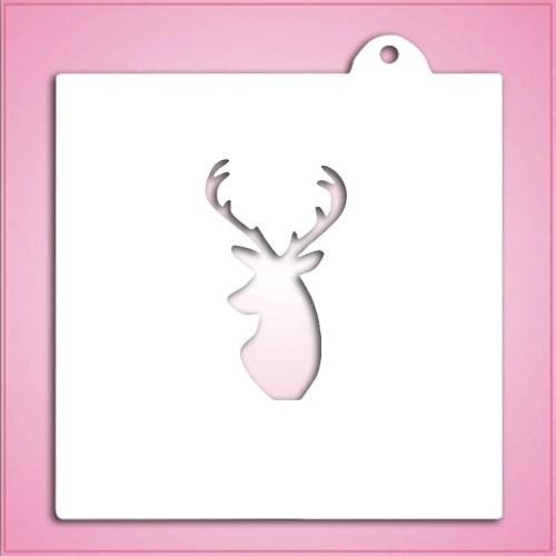 Medium Of Deer Head Stencil