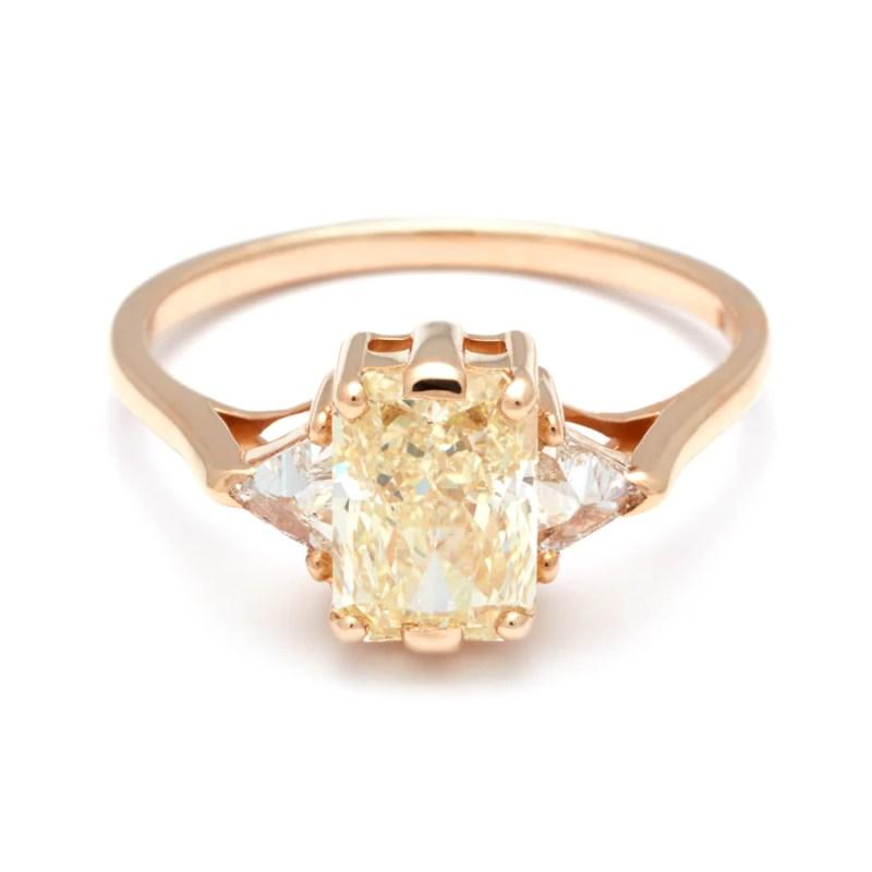 Large Of Yellow Diamond Engagement Ring