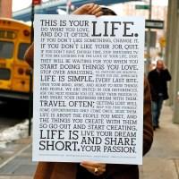 Holstee Manifestosu - Bu Senin Hayatın !